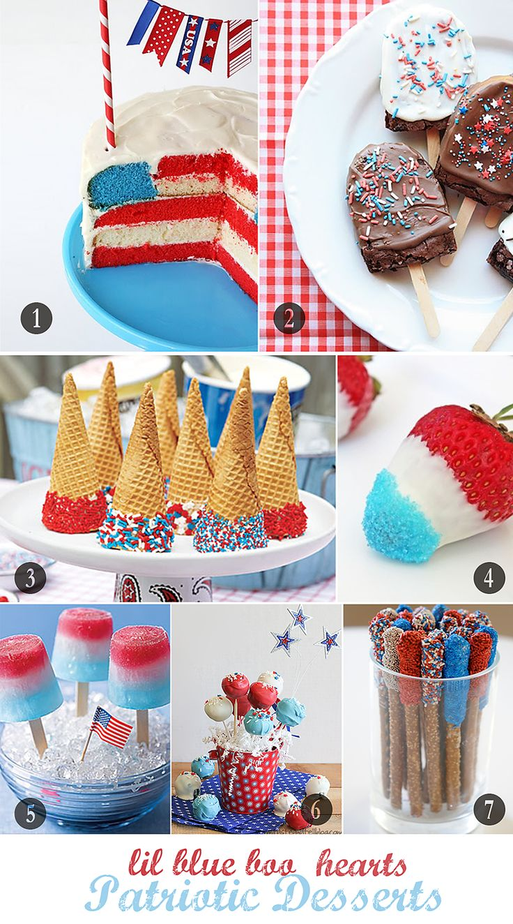 July 4th DessertsDesserts Ideas, Dessert Recipes, Fourth Of July, Patriotic Desserts, Food, Dessert Ideas, 4Th Desserts, 4Th Of July, July 4Th