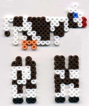 3D Cow Nabbi beads by Emos Pärlkonst