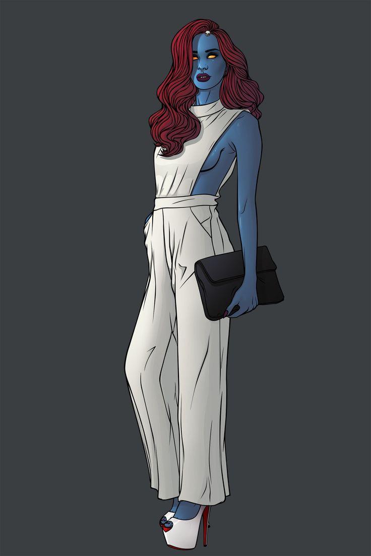 Raven Darkhölme aka Mystique Fashion version by chrispandart