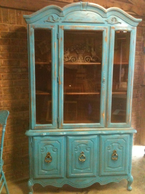 Purchased This Vintage China Cabinet 2nd Hand And Revamped