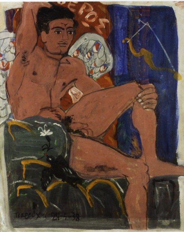 Έρως με φολιδωτά φτερά, Γιάννης Τσαρούχης 1938. Ιδιωτική συλλογή.