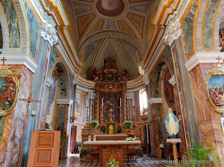 #italy #Sagliano Micca (#Biella #Italy #piemonte #visititaly #discoveritaly #baroque #artinitaly #architecture #art ) - Presbytery of the Parish Church of the Saints Giacomo and Stefano
