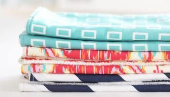 How to Sew Homemade Burp Cloths with Terry Cloth