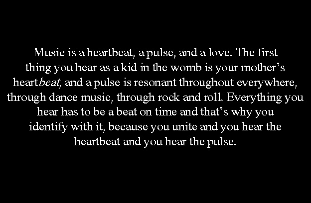 A quote about music by Hugh Harris, the lead guitar player for my favorite band, The Kooks.