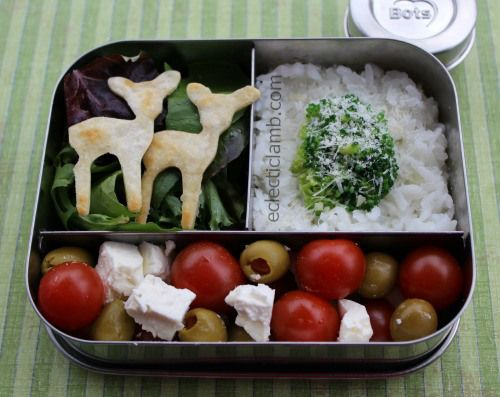 Deer Snow Covered Tree Bento Lunch