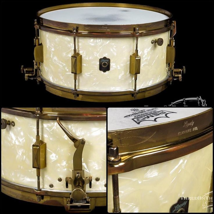 This beauty sold before it could be posted! 1938 Leedy Broadway Parallel (White Marine Pearl) Snare Drum : 6.5 x 14 : SOLD This drum is in excellent condition. An original Leedy Broadway Parallel model featuring the original White Marine Pearl wrap topped off with Knobby Gold hardware and Engraved Hoops! This drum is quite the looker! These shells were built of solid African mahogany and have a beautiful rich full bodied sound. This drum is equipped with AK repro snare strands that match…