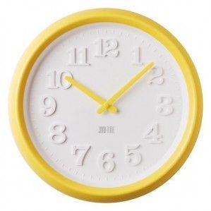 #Clock #JVD Plastikowy zegar ścienny TIME H102.2 duży- Jasněna Vláhová Design - żółty