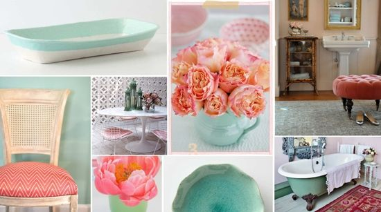Coral Bathroom Ideas: 17 Best Images About Mint + Peach On Pinterest