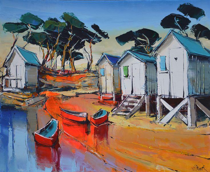 Eric Le Pape, Lumière rouge sur Noirmoutier - 20F 73x60 cm