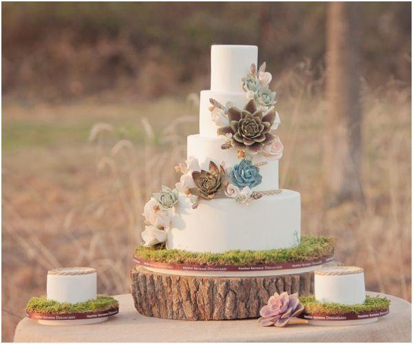 Bohemian #wedding #cake - get inspired at diyweddingsmag.com