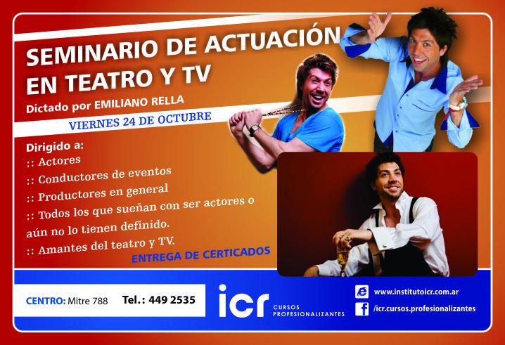 Seminario de actuación en teatro y tv