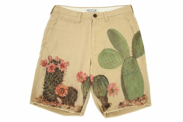 // SASQUATCHfabrix  Eo To To Cactus Paint Shorts