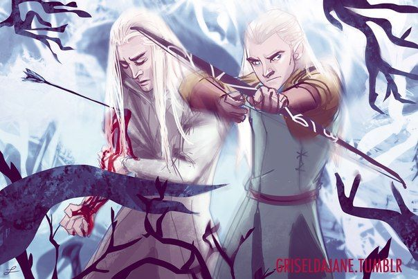 relationship between elrond and thranduil images