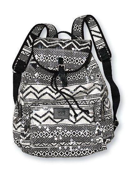 Victoria's Secret Pink Bag Backpack Black White logo