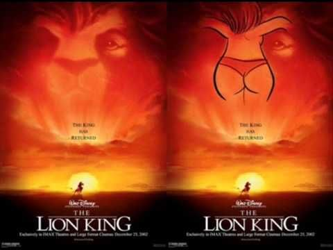 Publicidad subliminal del Rey Leon de Disney