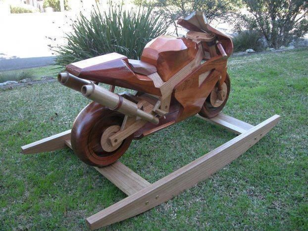Free motorcycle rocking horse plans woodworking projects for Woodworking plan for motorcycle rocker toy