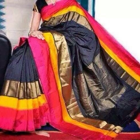 Pochampally Ikkat pattu saree........... | Elegant Fashion Wear