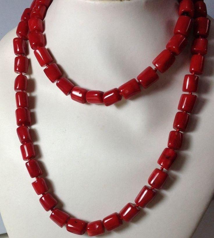 Collar De Coral Rojo - $ 1,990.00 en MercadoLibre