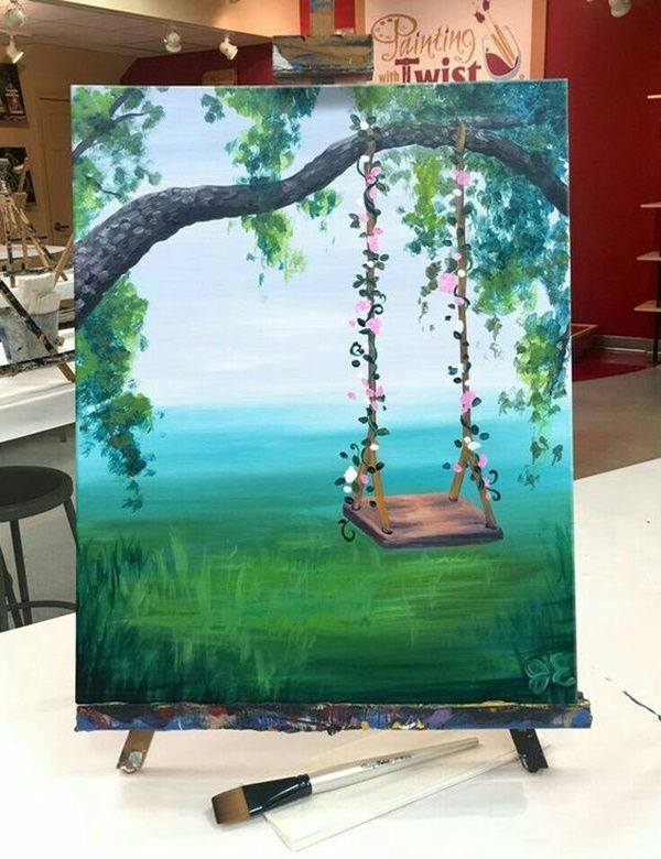 Easy Acrylic Painting Ideas For Beginners Are Quite Easy To Try And Follow Art Has No Boundries And It Simple Acrylic Paintings Art Painting Beginner Painting