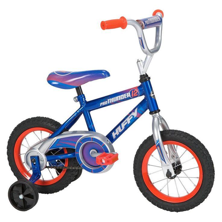 """Huffy Pro Thunder 12"""" Boys Bike - Blue/Red"""