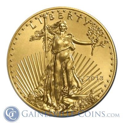 2013 1/10 oz Gold American Eagle Coins #goldeagle http://www.gainesvillecoins.com/buy-gold.aspx
