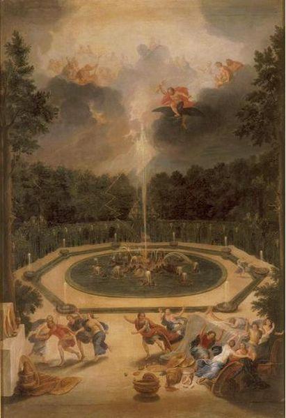 """Bassin de l'Encélade"""" Jean Cotelle, ca. 1693:"""