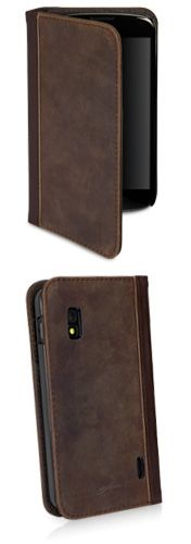 Classic Book LG Nexus 4 Case - History meets the future in the form of the LG Nexus 4, a genuine leather wallet case in the form of an old, loved book
