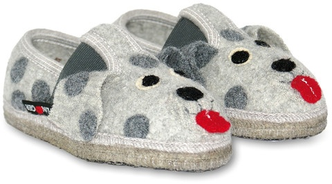 HAFLINGER 'Dalmatiner'  $59.00  http://www.slippersdirect.com.au/collections/kids-slippers/products/dalmatiner