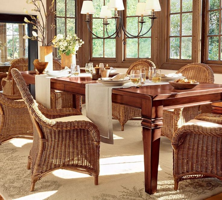 Dining Room Gorgeous Wicker Dining Room Sets Have Dining Table Sets Wicker 6 Chairs Have Under Chandelier Above Laminate Wood Floor Used Carpet Around Wood Glass Wall Glass Windows Tips in Searching for Discount Dining Room Sets