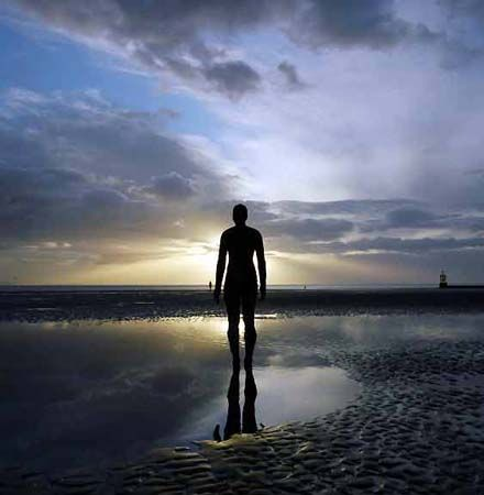 Another Place- Anthony Gormley sculptures
