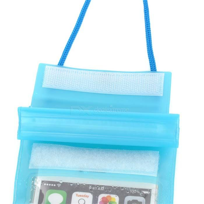 "Universal PVC Drifting Waterproof Bag for 5.5"" Cellphone - Blue"