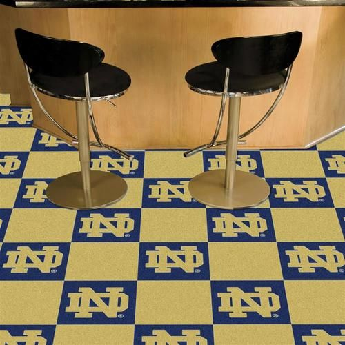 Notre Dame Fighting Irish Carpet Tiles Flooring