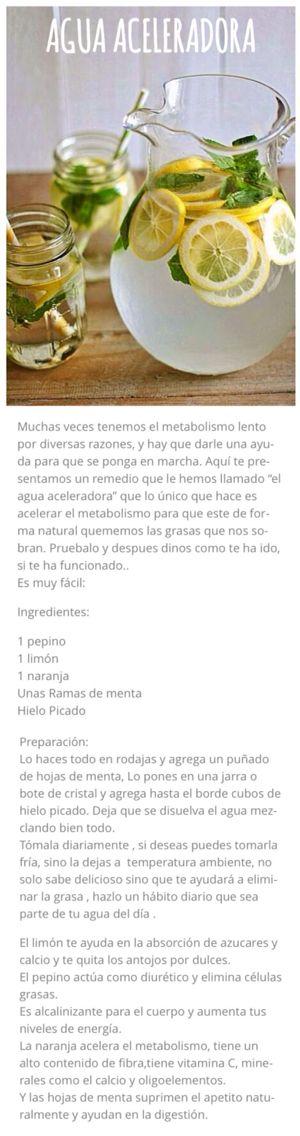 Agua aceleradora del metabolismo