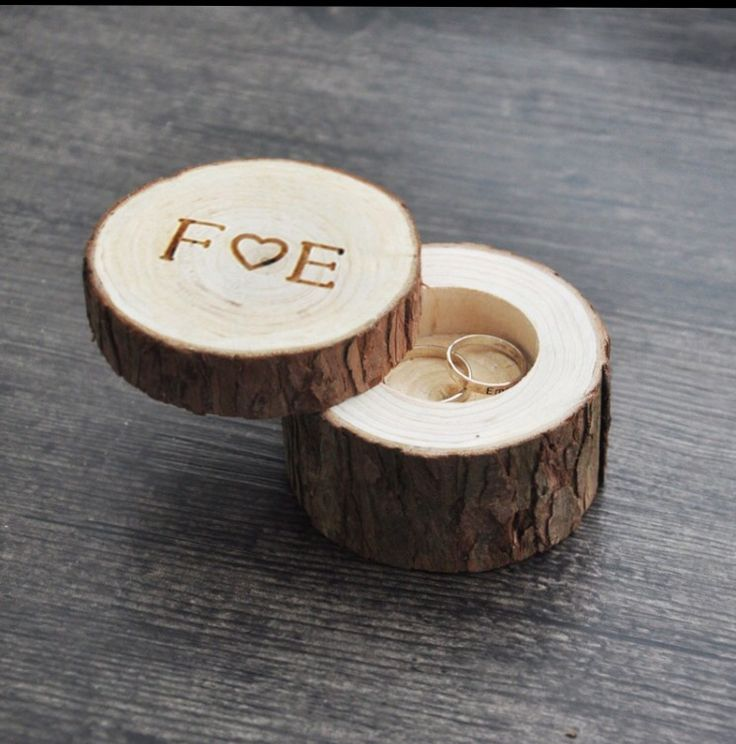 Коробочка для колец. Свадьба. Рустик