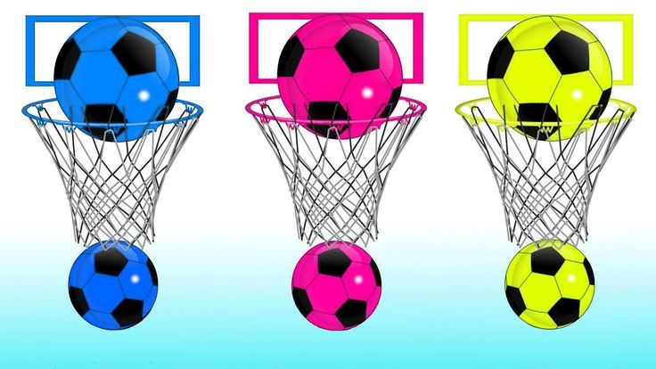 Learn Colors with Soccer Balls Basketball Hoops JOHNY JOHNY Yes Papa FINGER FAMILY Nursery Rhymes