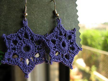 Patrones varios pendientes crochet