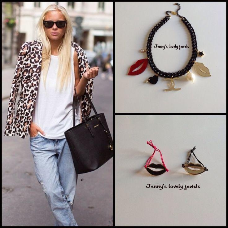 Street style leopard necklace bracelets