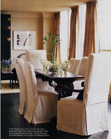 linen slipcovered monogrammed linens p dining room kitchen dining area