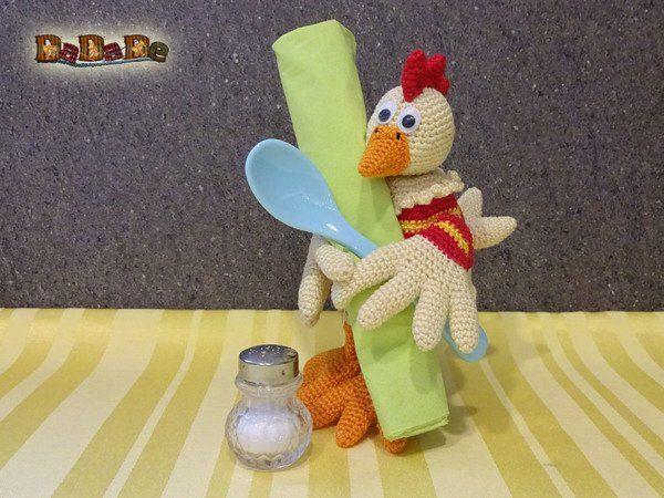 Eierwärmer Huhn, nicht nur zu Ostern - gehäkelt von Dadade