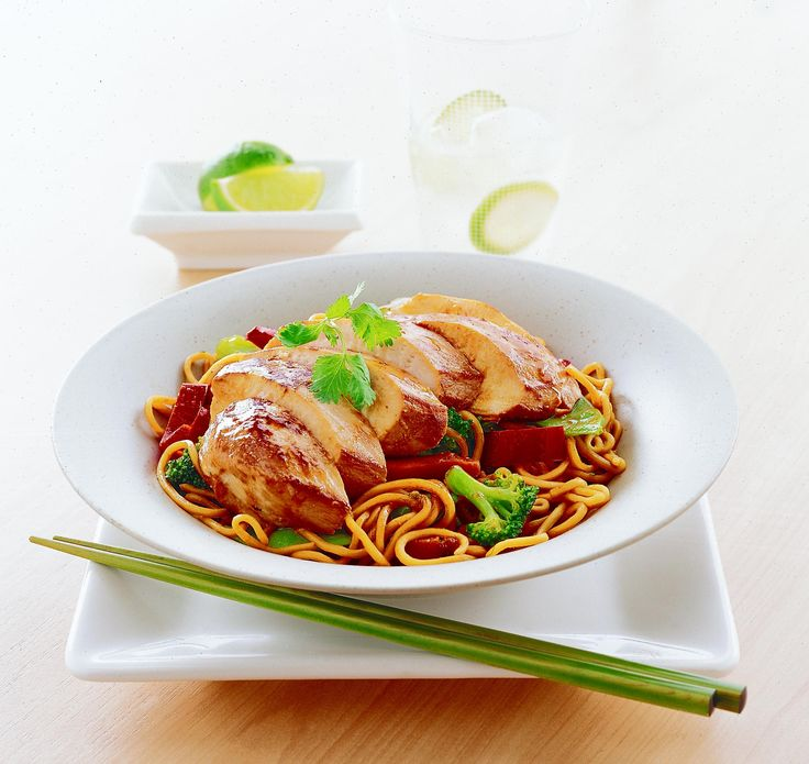 Teriyaki Chicken and Noodle Stir Fry: Recipe courtesy of Healthy Food Guide