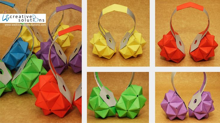 Headphones I Tetra pak and colored paper Headphones