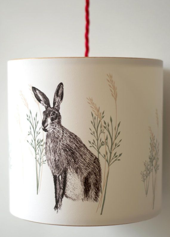 Handmade Pendant Lampshade  Wild Hare by ANorthernLightLamps, £55.00