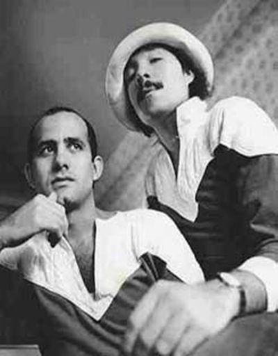 """Juan Ramos & Antonio Lopez, """"The Americans"""" in fashionable '70s in Paris."""