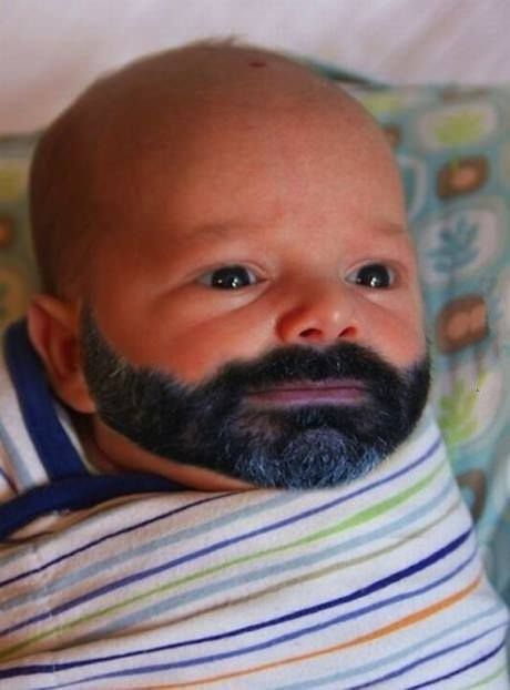 Chuck Norris as a baby. this made me laughhhhhh!