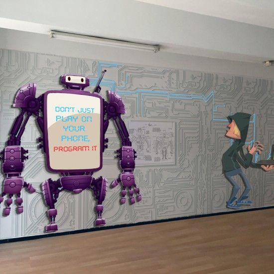 Bilgisayar Dersliği Duvarı