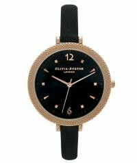 Rose gold and black suede strap watch by Olivia Burton £85  www.kakao.co.uk