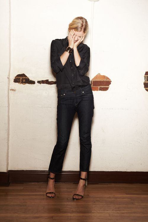 +: Black Buttons, All Black, Style Inspiration, Allblack, Black Blouses, Black On Black, Dark Jeans, Dark Denim, Basic Black