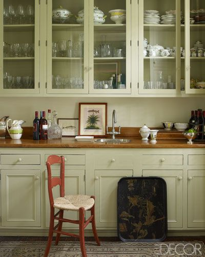 ... and fittings are by Waterworks. - Julia Reeds kitchen in New Orleans