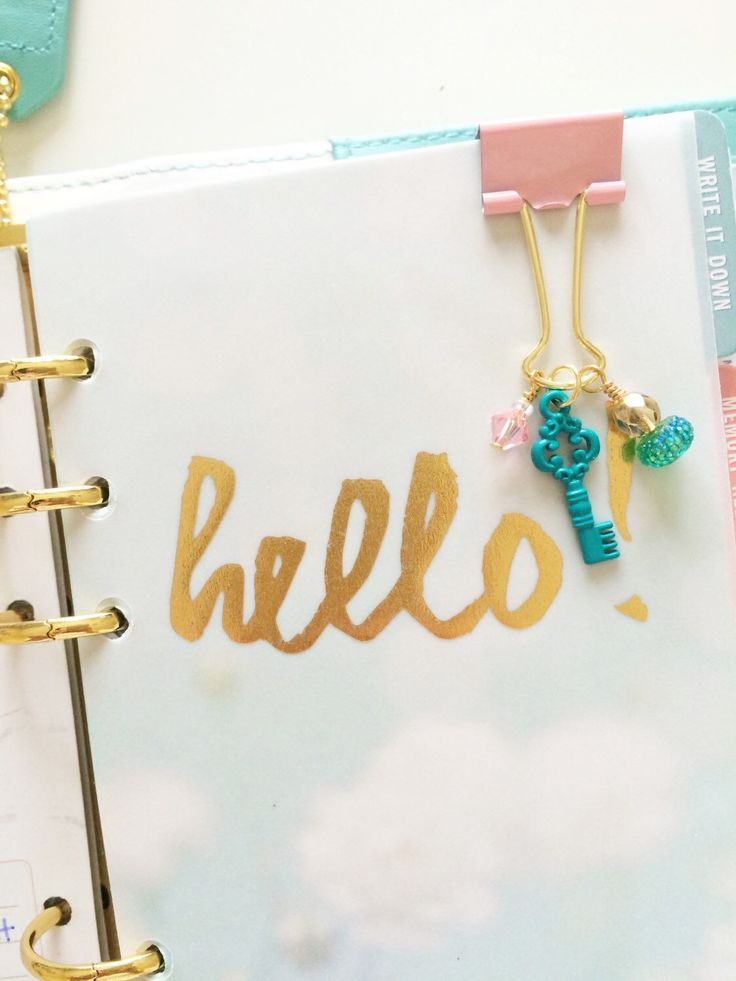 Pocketful of Sparkles-planner ideas  A personal favorite from my Etsy shop https://www.etsy.com/listing/230241817/planner-paperclip-handmade-binder-clip