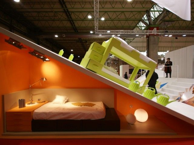 Stand muebles JJP feria de Zaragoza. Decoración Alado
